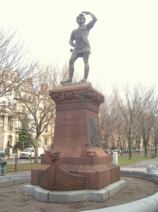 Leif Ericson statue by Anne Whitney in Boston