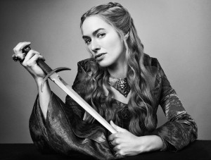 Cersei Lannister with a dagger