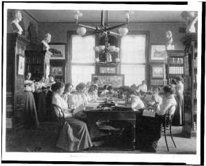 Women Reading in School, 1899
