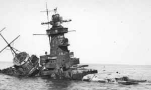 The wreck of the Graf Spee