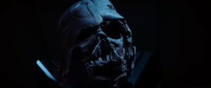 Darth Vader's battered helmet