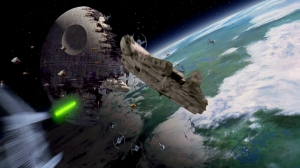 Space ships at the Battle of Endor