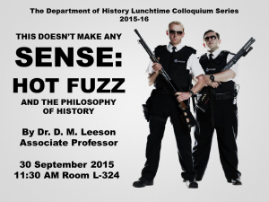 Hot Fuzz and History 30 Sept, 11:30