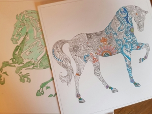 Colouring Pages, Horses